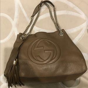 Gucci Bags - Gucci Soho Leather Chain Strap Tote, Brown